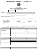 Form Cac 10 - Annual Return For A Small Company - Corporate Affairs Commission