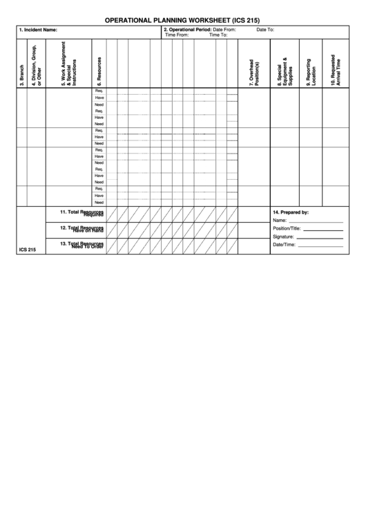 Top 7 Ics Form 215 Templates free to download in PDF, Word and ...