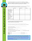 College Application Worksheet