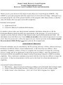 Jasper County Recovery Court Application Form