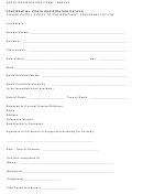 Death Registration Form - Sample