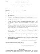 Affidavit For Waiver Of Examination
