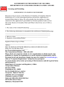 Amendment Of Limited Partnership Form - Government Of The District Of Columbia