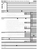 Form Ri-1041 - Rhode Island Fiduciary Income Tax Return - 2008