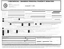 Form 22.15 - Confidential - Business Personal Property Rendition Form (texas) - 2009