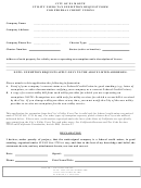 Utility Users Tax Exemption Request Form For Federal Credit Unions - City Of El Monte