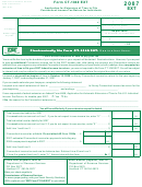 Form Ct-1040 Ext - Application For Extension Of Time To File Connecticut Income Tax Return For Individuals - 2007