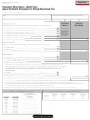 Form 4132 - Voluntary Disclosure - Multi-year Apportionment Schedule For Single Business Tax