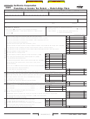 Form 100w - California Corporation Franchise Or Income Tax Return Water's-edge Filers - 2005