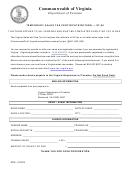 Form St-50 - Temporary Sales Tax Certificate/return Virginia
