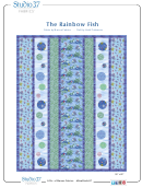 The Rainbow Fish Quilting Template