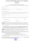 Top 46 Louisiana Tax Exempt Form Templates free to download