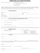 Form Prc/asd -001 - Carrier And Utility Inspection Report Form