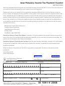 Form Ia 1041-v - Iowa Fiduciary Income Tax Payment Voucher - 2008