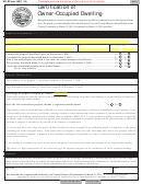 Sd Eform 1659 - Certification Of Owner-occupied Dwelling - South Dakota Department Of Revenue - 2010