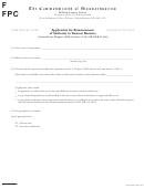Application For Reinstatement Of Authority To Transact Business Form - The Commonwealth Of Massachusetts