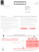 Form Dr-225 1/16 -documentary Stamp Tax Return For Registered Taxpayers' Unrecorded Documets