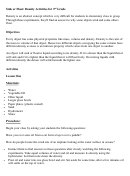 Sink Or Float - Density Activities For 3rd Grade (lesson Plan Templates)