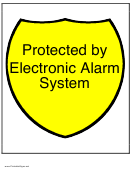 Sign Template - Protected By Electronic Alarm System