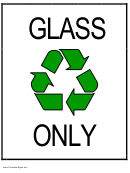 Recycle Glass Sign Template