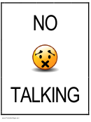 No Talking Sign Template