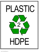 Recycle Plastic Type 2 Hdpe Sign Template