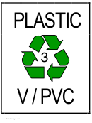 Recycle Plastic Type 3 V/pvc Sign Template