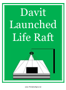 Davit Launched Liferaft Sign Template