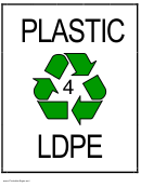 Recycle Plastic Type 4 Ldpe Sign Template