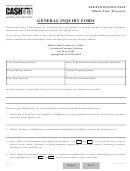General Inquiry Form - Illinois State Treaurer