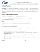 Form Ct-hr-28 - Request To Hold Classified Position