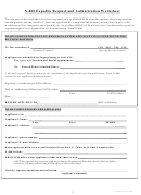 N-400 - Expedite Request And Authorization Worksheet Template