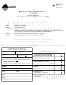 Public Service Regulation Tax Form - Montana Department Of Revenue