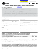 Ppb-8a (mdv) - Montana Disabled Veteran Property Tax Relief Application (mdv) Form