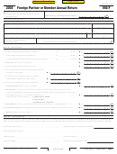 California Form 592-f - Foreign Partner Or Member Annual Return Form - 2008