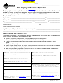 Real Property Tax Exemption Application Form Montana