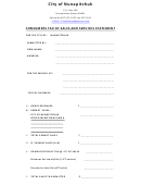 Consumers Tax Of Sales And Services Statement Template - City Of Nunapitchuk, Alaska