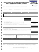 Form Lb-50 - Notice Of Property Tax And Certification Of Intent To Impose A Tax, Fee, Assessment, Or Charge On Property - 2016-2017
