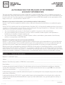 Authorization For Release Of Retirement Account Information Form - Ohio