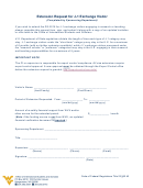 Extension Request For J-1 Exchange Visitor Form
