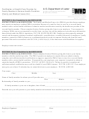 Form Wh-380-f - Certification Of Health Care Provider For Family Member's Serious Health Condition 2011