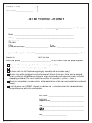 Form 86-113 Limited Power Of Attorney - Texas