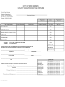 Utility Occupation Tax Return Form - City Of Des Moines