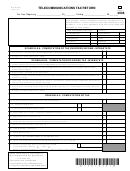 Form Wv/tel-501 - Telecommunications Tax Return - 2006