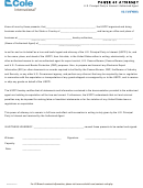 Power Of Attorney Form U.s. Principal Party In Interest / Authorized Agent