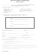 Release Of Medical Information Form