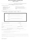 Release Of Medical Information Form