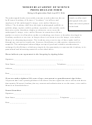 Press Release Form - Missouri Academy Of Science