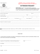 Form Ss-6074 - Extension Request - Tennessee Department Of State - 2009