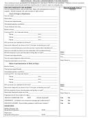 Individual Travel Assessment Worksheet
